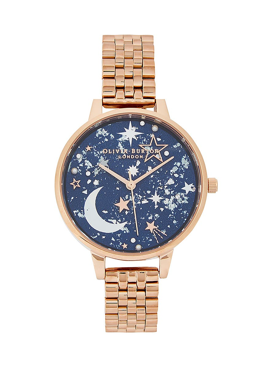 Cute Design Ladies Gold Bracelet Watch