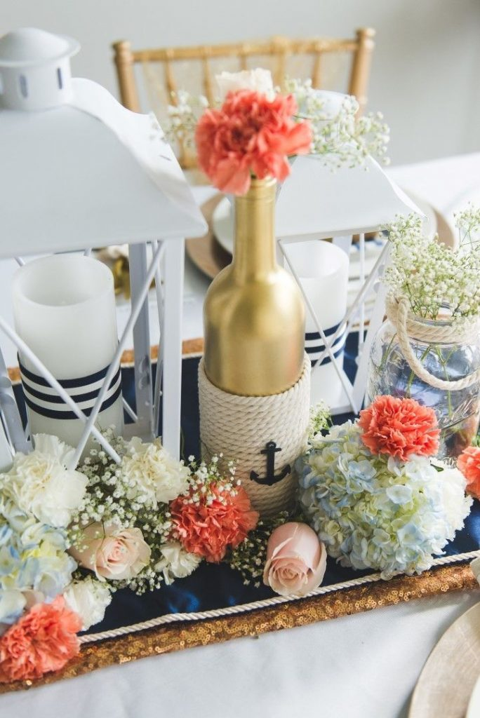 DIY Nautical Table Decorations for Weddings