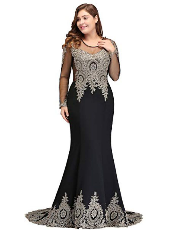 Dress for Plus Size Womens Evening Gown