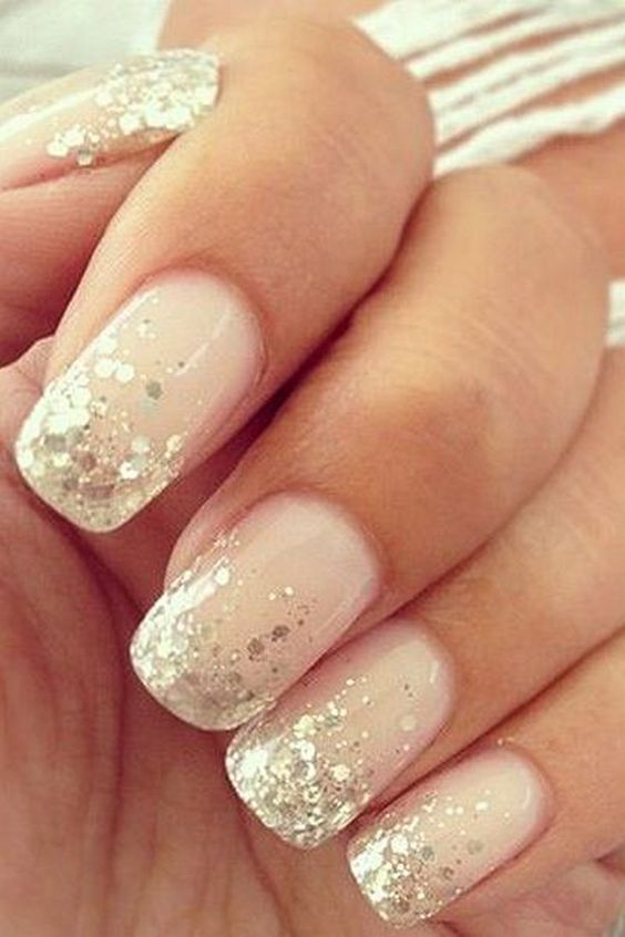 Eleant Wedding Nails for Bride