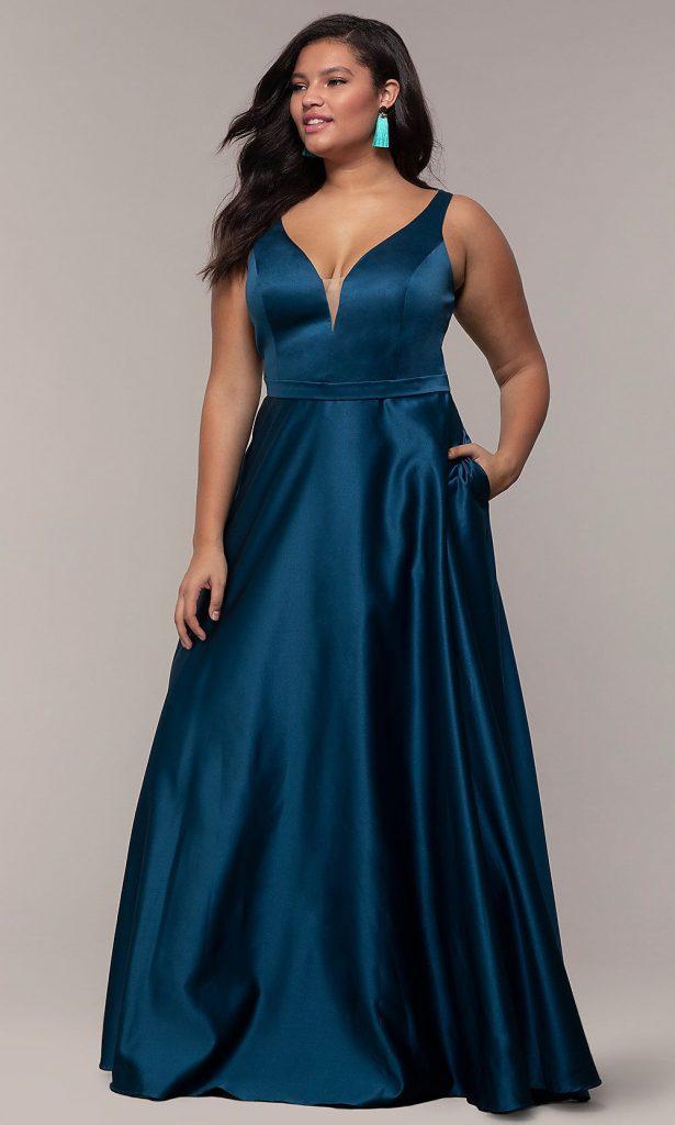 Elegant A line plus size dresses