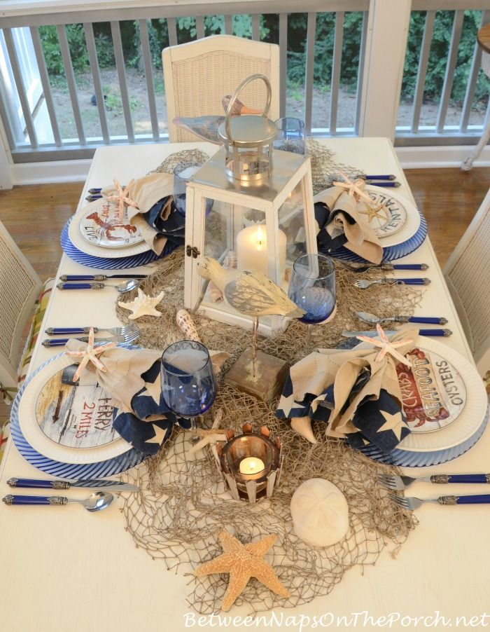 Elegant Nautical Table Decorations for Wedding