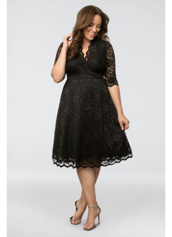 Elegant Plus size Cocktail formal dresses