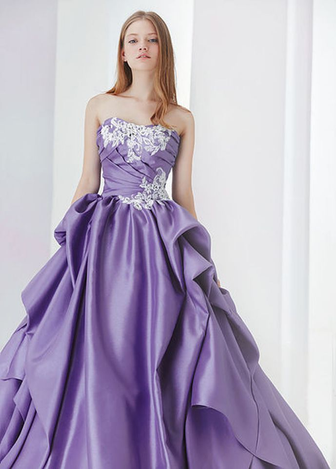 Elegant Purple Wedding Dress