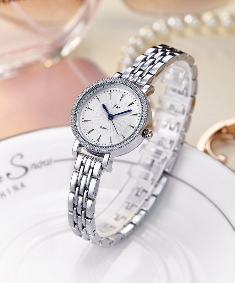 Elegant Silver Ladies Gold Bracelet Watch
