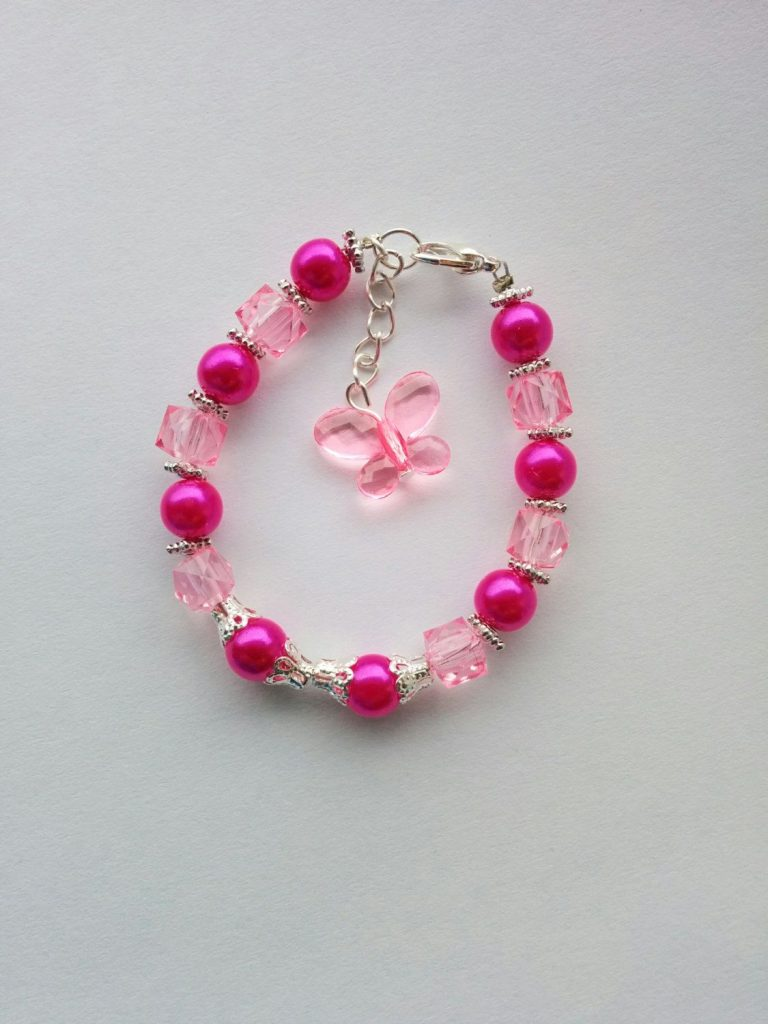Fashionable Pink Bracelets for Girls