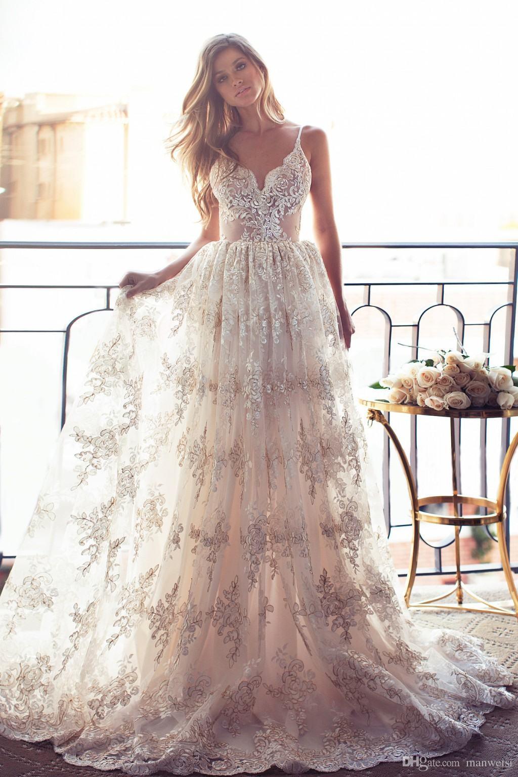 Full Lace Summer Wedding Dresses