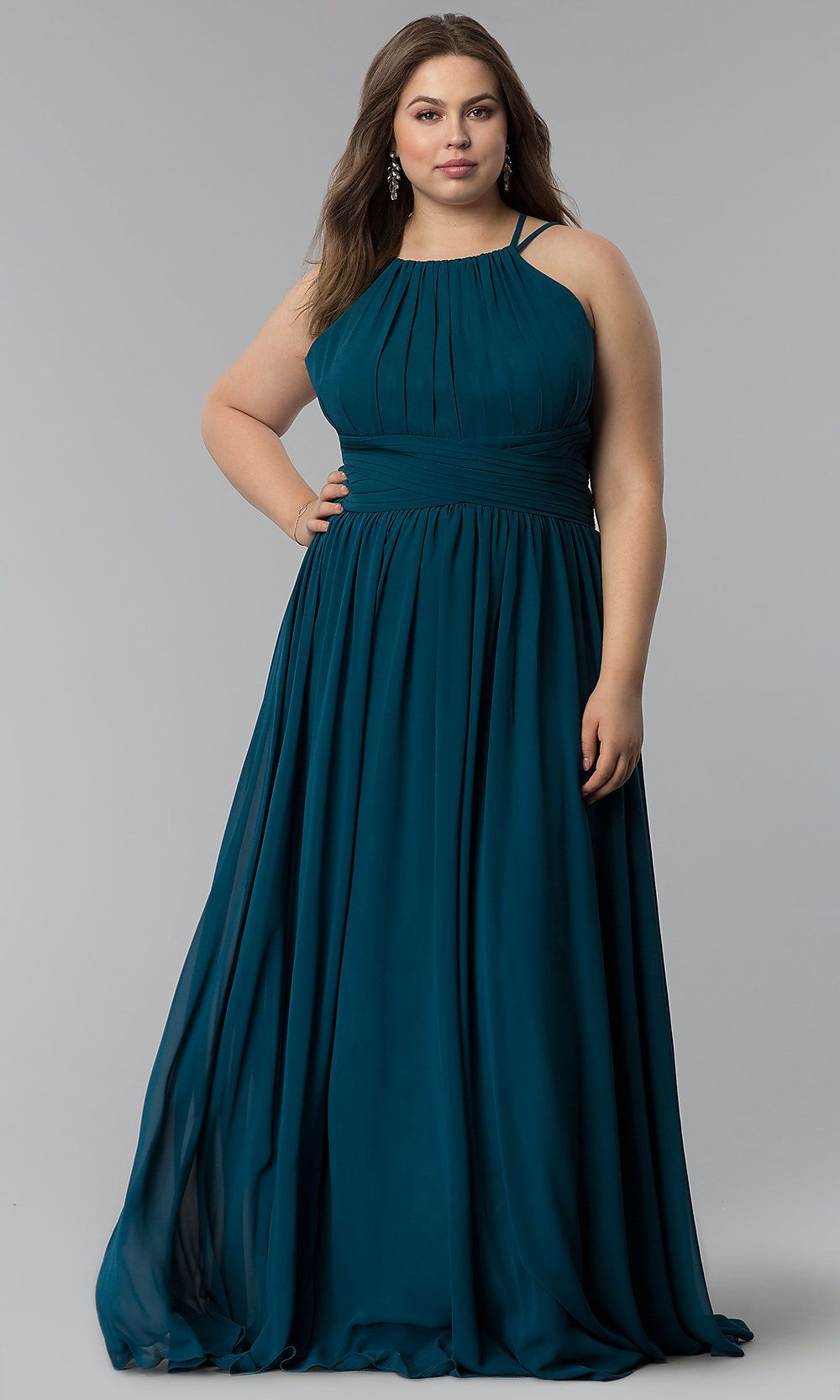 High neck dress plus size