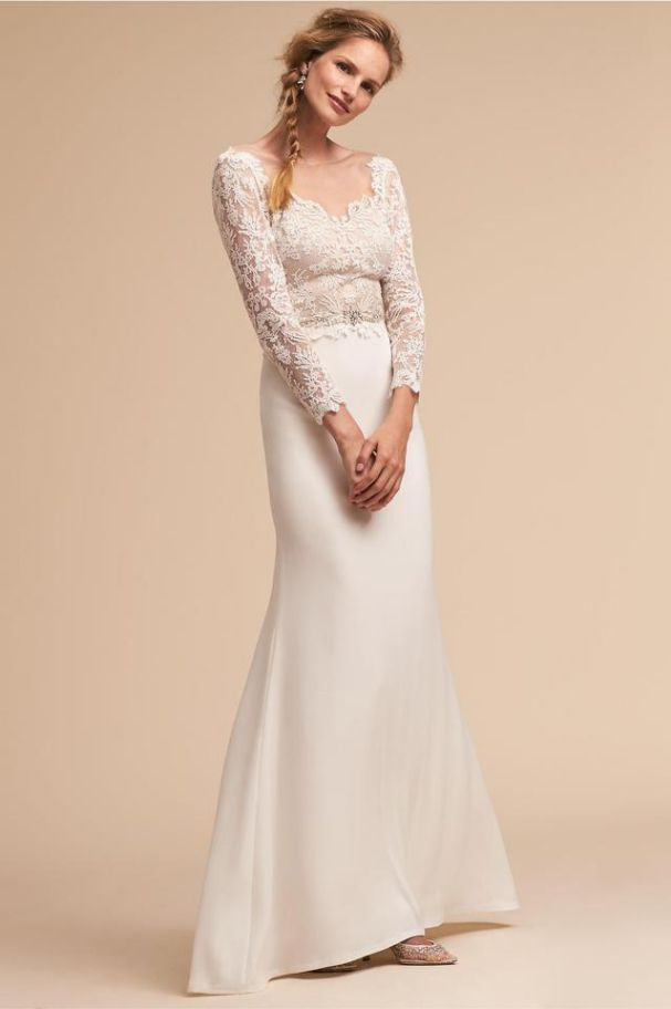 Ivory Wedding Dress With Sleeves Vintage