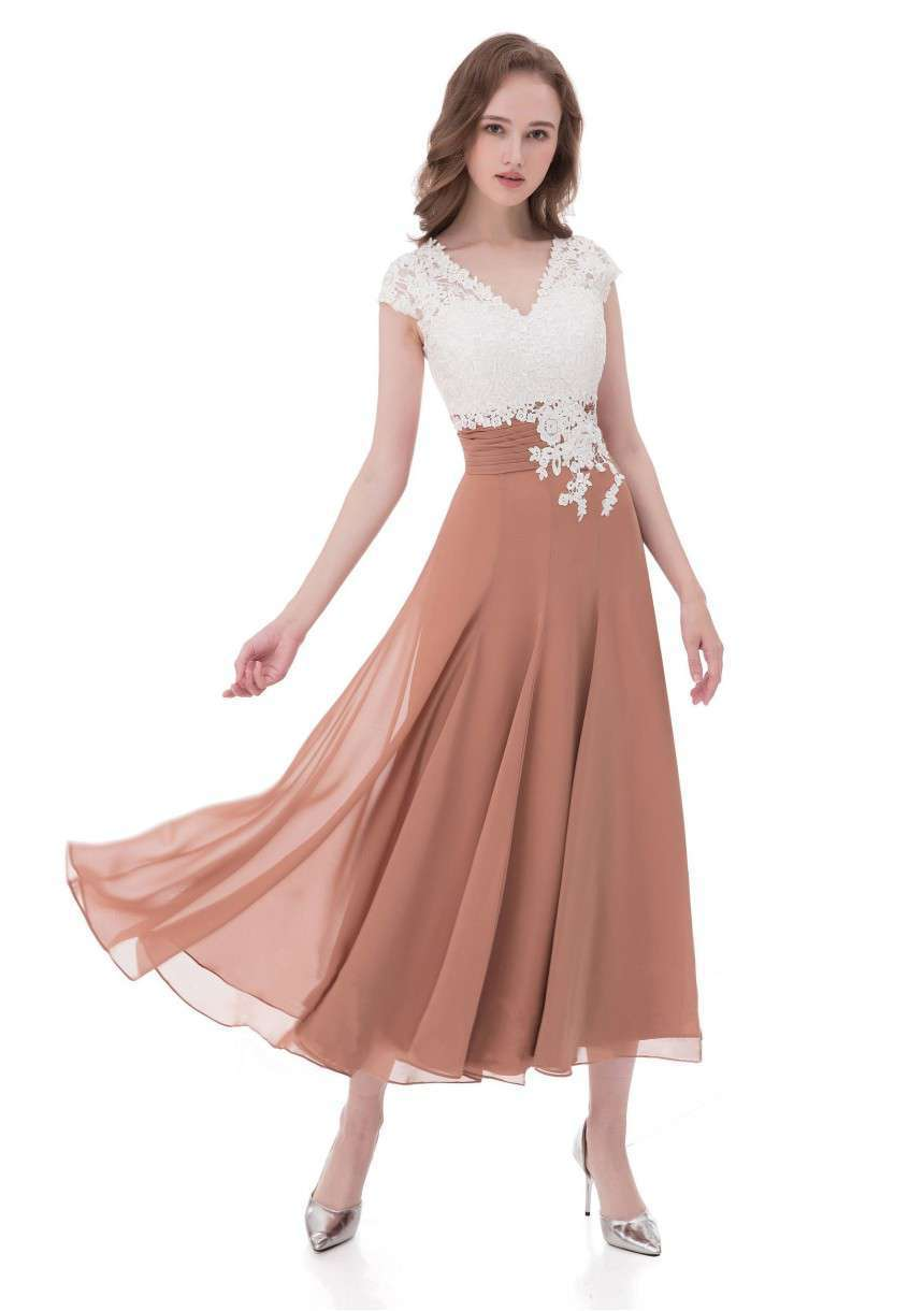 Lace Mother of the Bride Dresses Tea Length