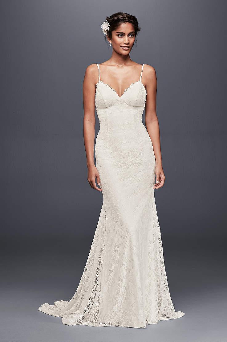Long Sheath Casual Wedding Dresses