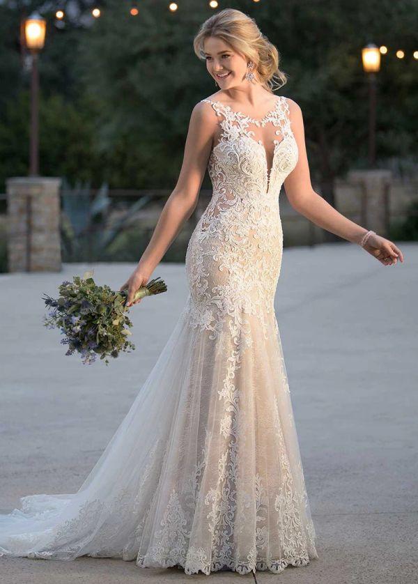 Luxurious Lace Mermaid Wedding Dresses