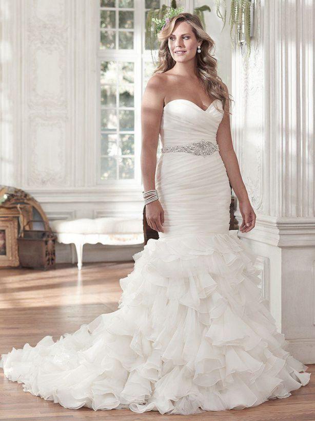 Mermaid Wedding Dress Sweetheart Corsets Ivory