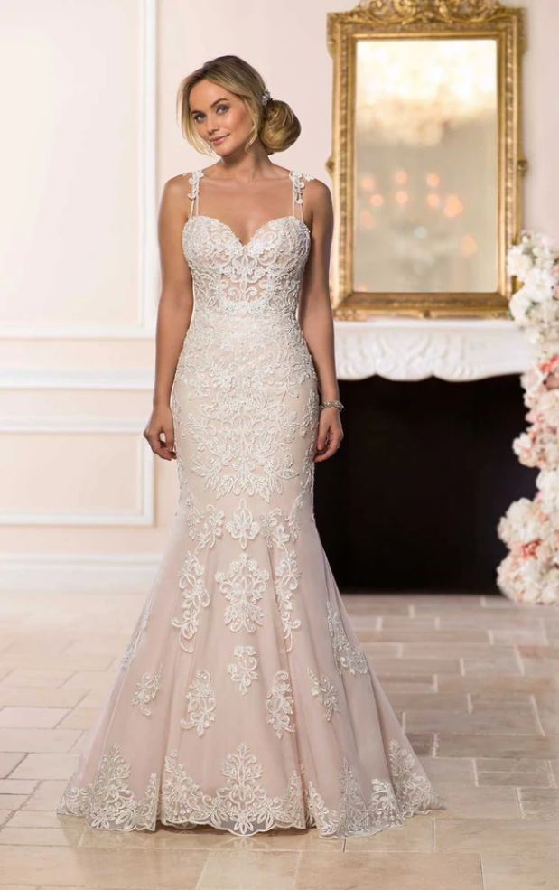 Mermaid Wedding Dress With Straps Sparkle