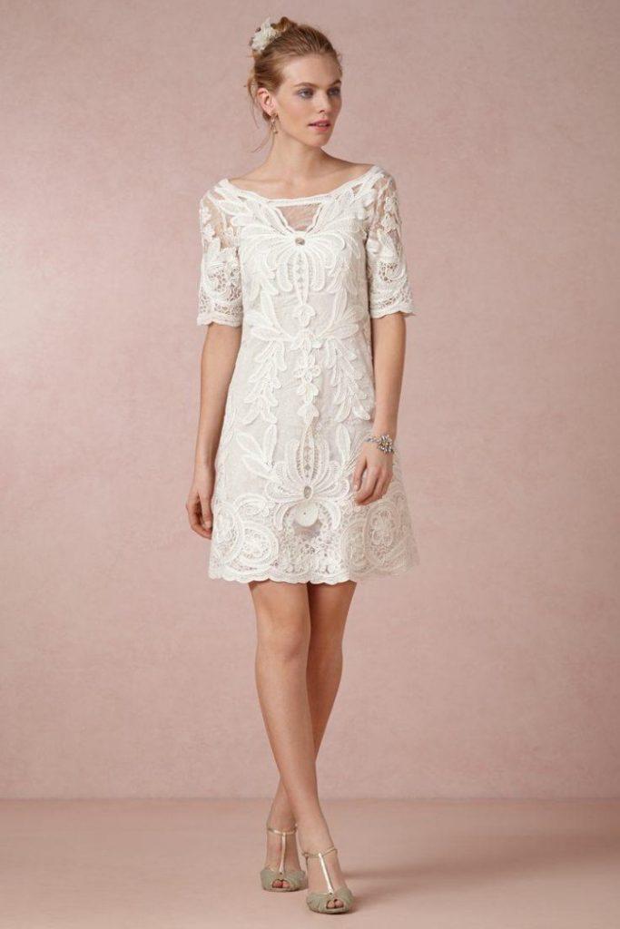 Minimalist Casual Short Wedding Dresses