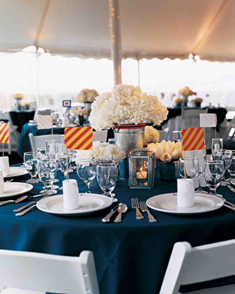 Nautical Table Decorations for Wedding Ideas