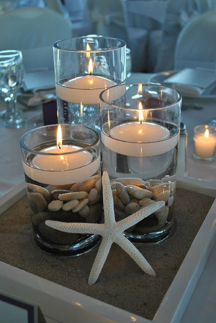 Nautical Table Decorations for Weddings Certerpiece