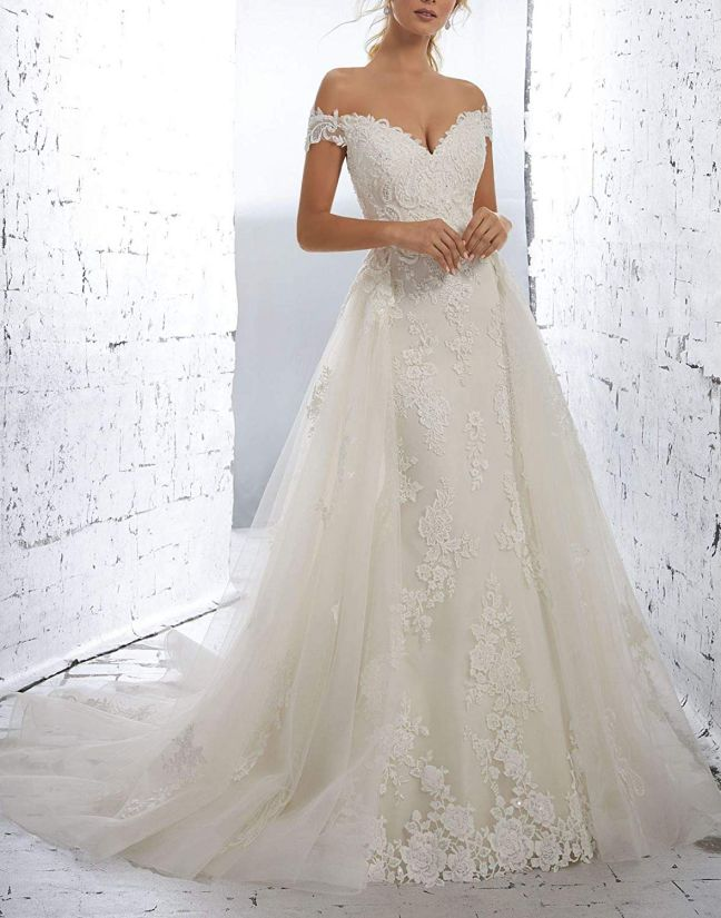Off Shoulder Wedding Dresses Modern