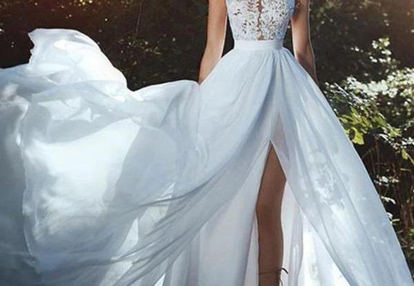 Off White Wedding Dress Simple Shape