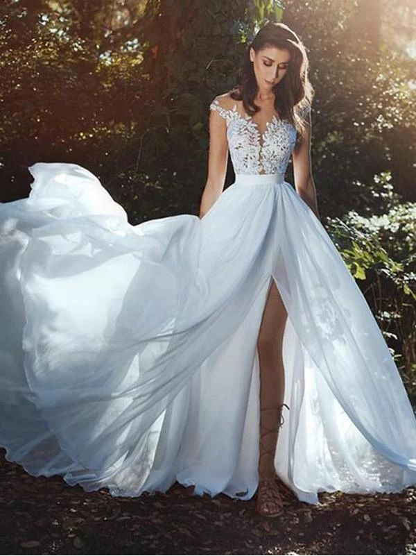 Off White Wedding Dress Simple Shape