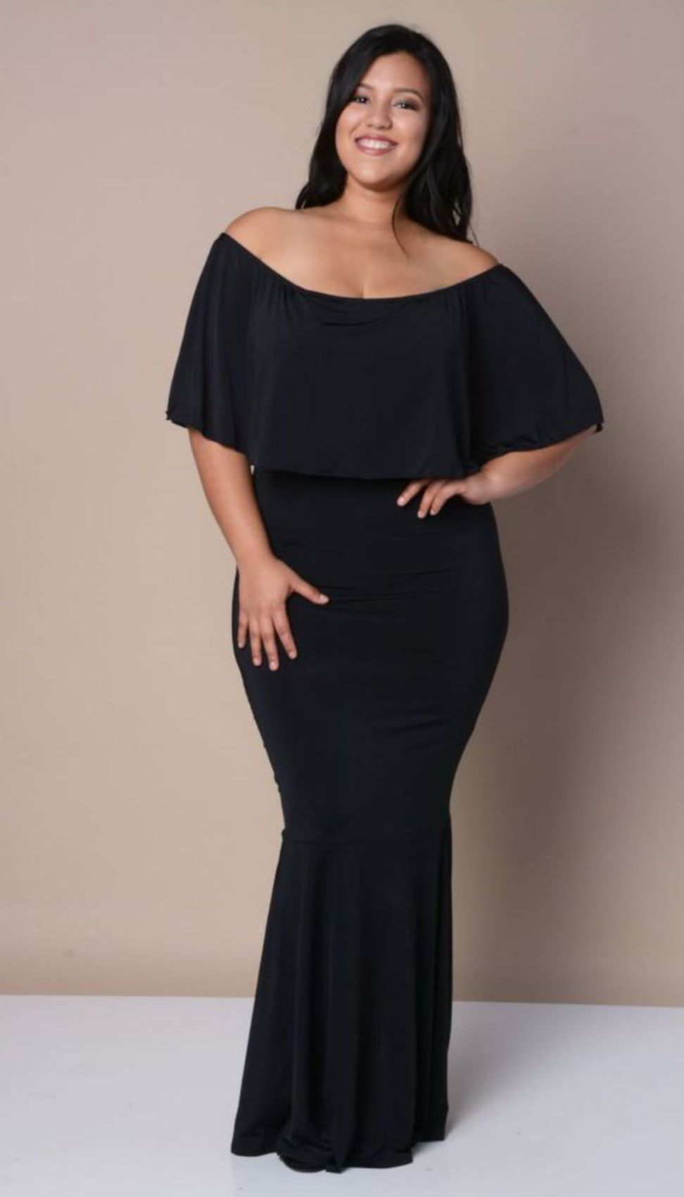 Off the Shoulder with Mermaid Skirt Gown Plus Size