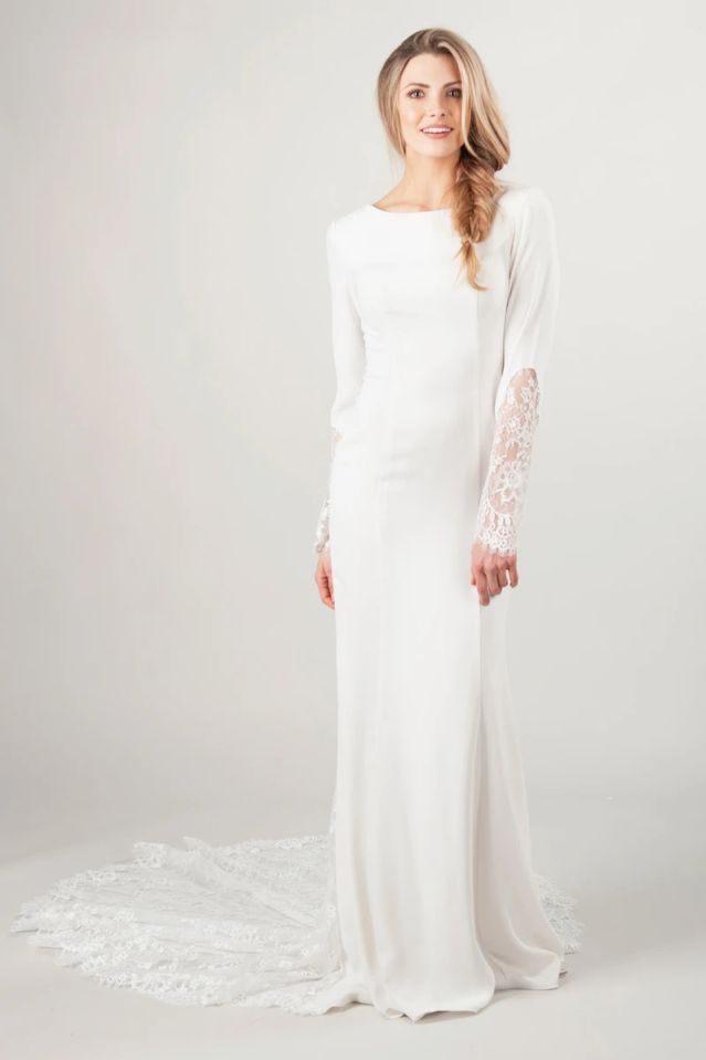 Plain White Wedding Dress Modest
