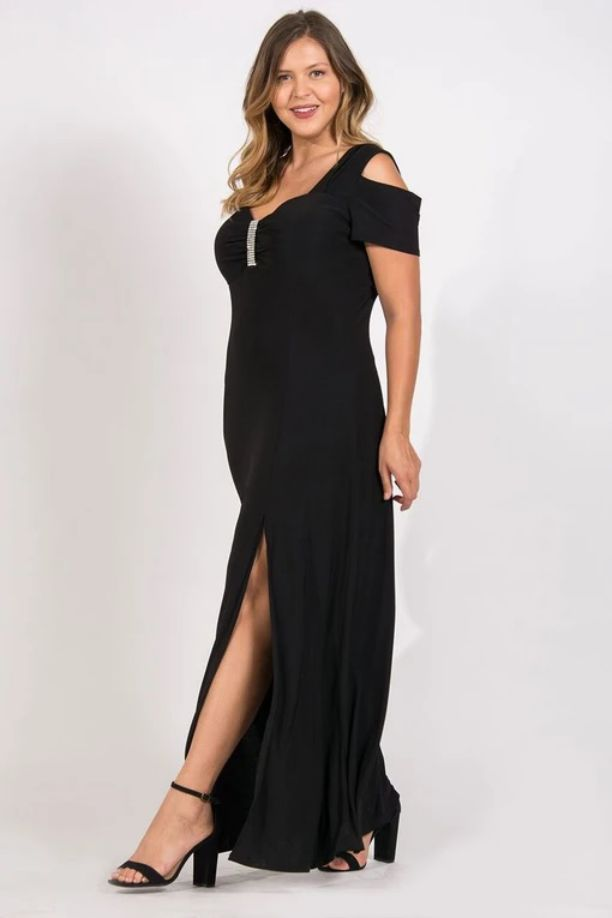 Plus Size Black Evening Gowns