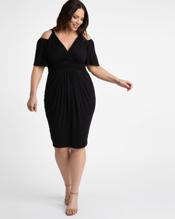 Plus Size Cocktail Dresses Black