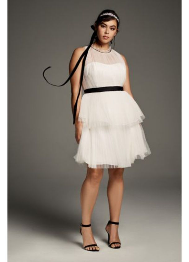 Plus Size Cocktail Dresses High Neck