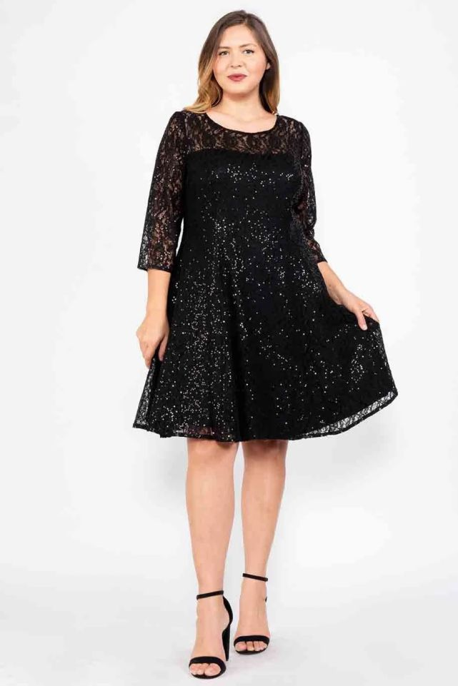 Plus Size Cocktail Dresses Lace Material