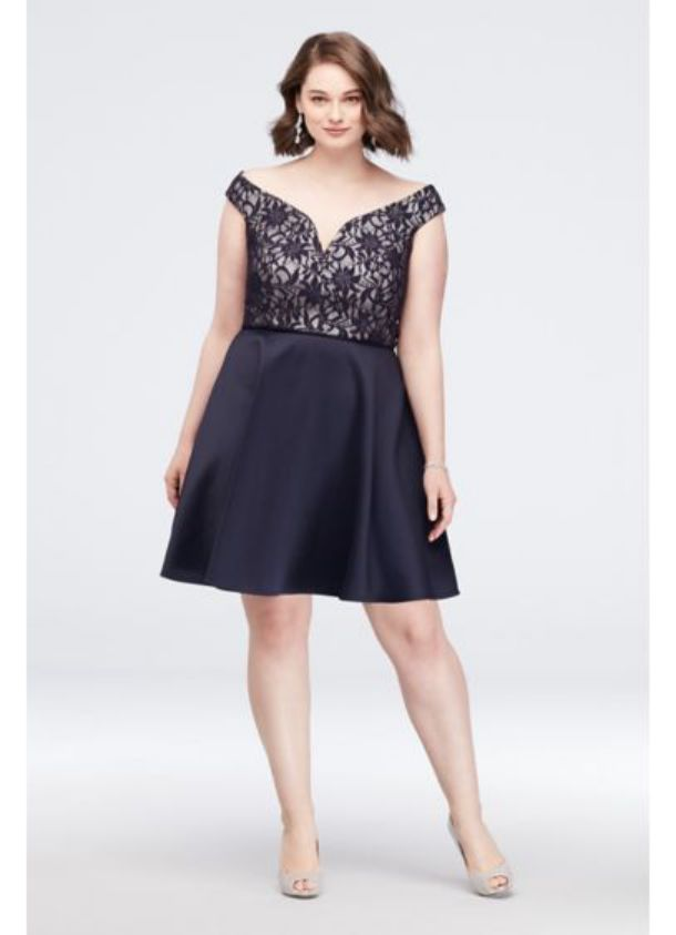 Plus Size Cocktail Dresses V Neck