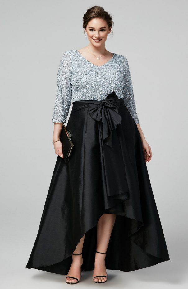 Plus Size Cocktail Dresses with Skirt