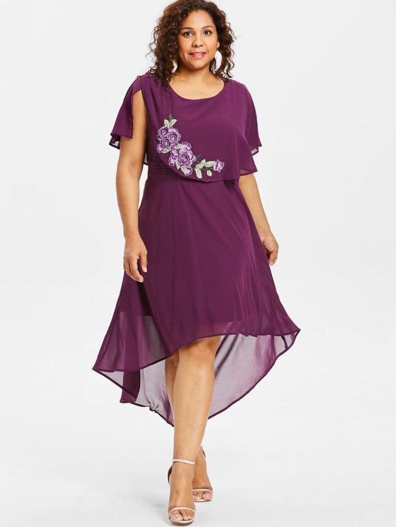 Plus Size High low Hem Dress