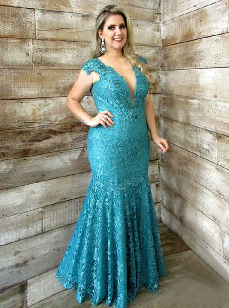 Plus Size Mermaid Cut Dress