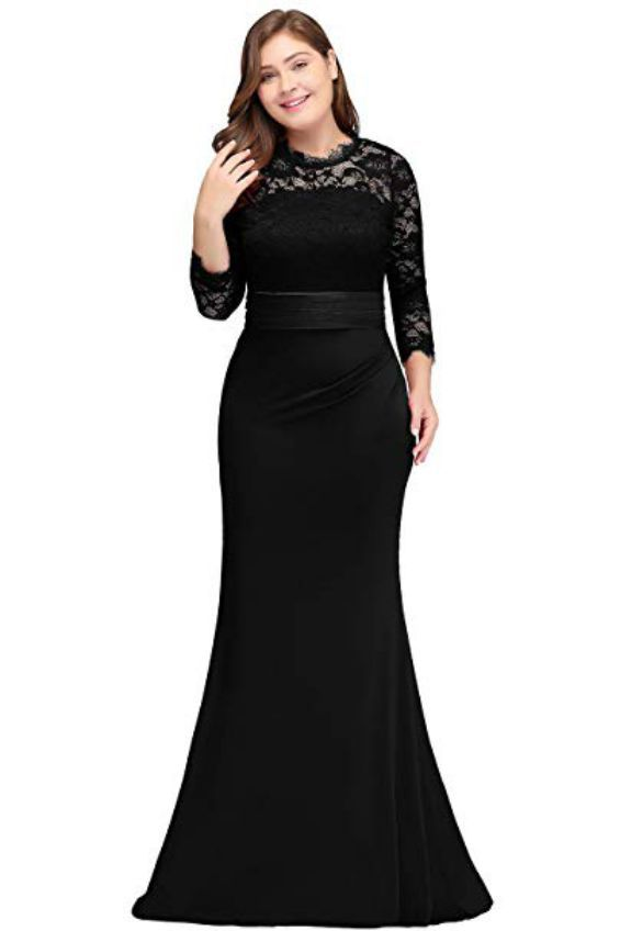 Plus Size Ruffled Evening Dress for Formal Dress