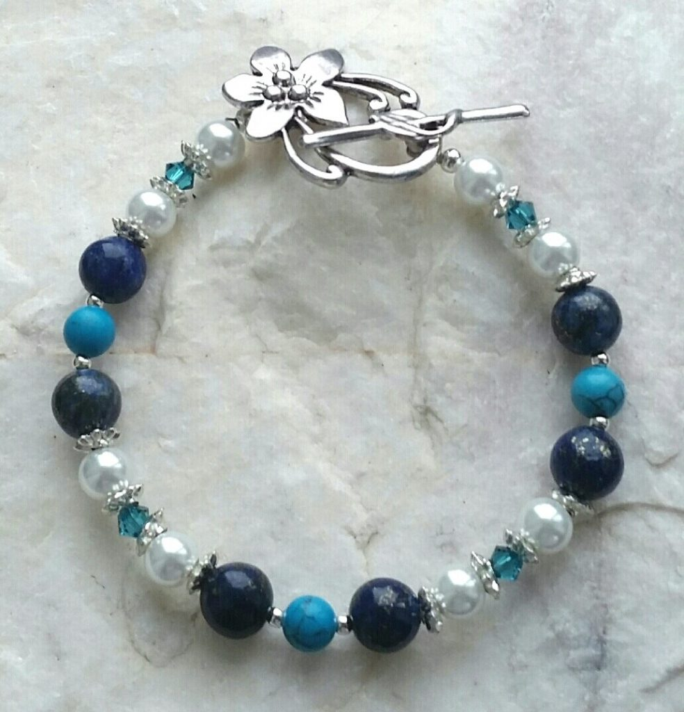 Royal Blue Beaded Bracelets for Girls