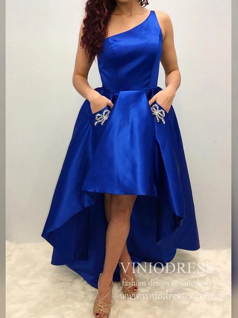 Royal Blue Dress Satin