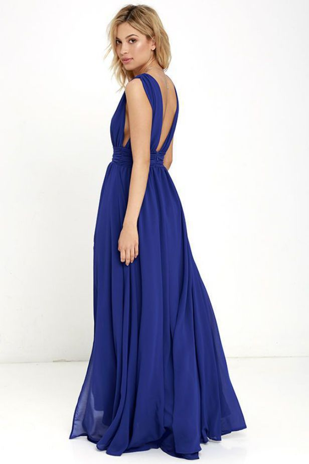 Royal Blue Dress for Wedding Summer