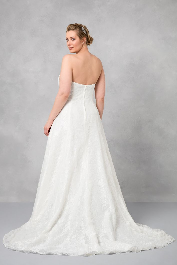 Satin Wedding Dress A Line Plus Size