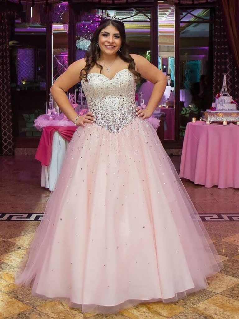 Sleeveless Tulle Gown Plus Size