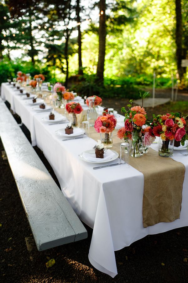 Sommer Outdoor Wedding Table Ideas