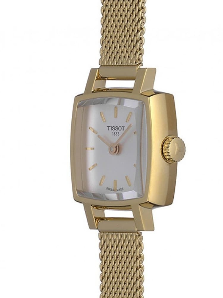 Square Ladies Gold Bracelet Watch