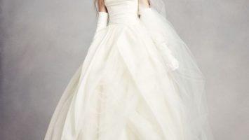 Textured Organza Wedding Ball Gown