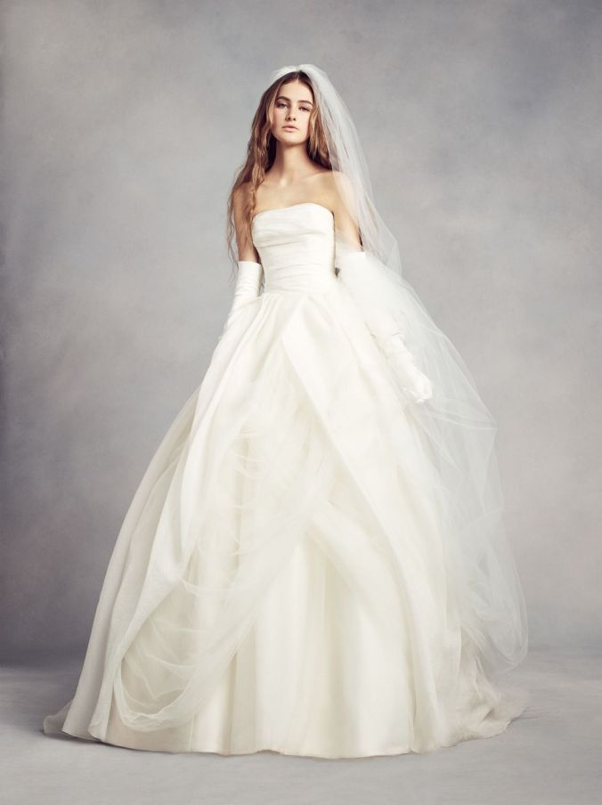 Textured Organza Wedding Ball Gown