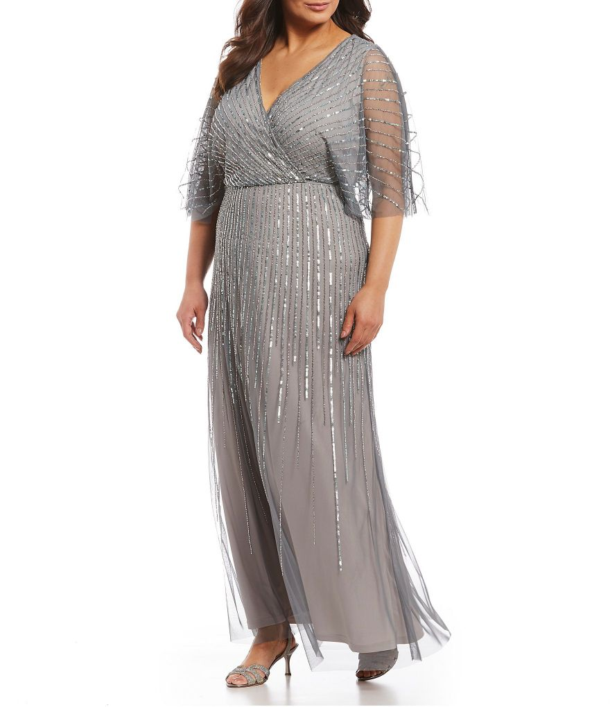 Twisted Metallic Gown Plus Size
