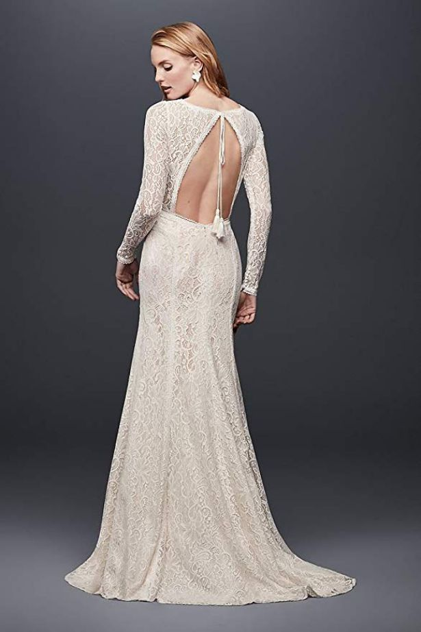 Wedding Dress With Lace Long Sleeves