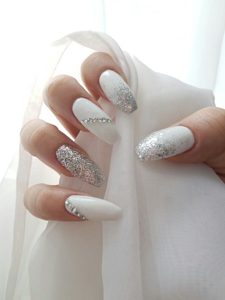 Wedding Nail Ideas Design for Coffin Nails