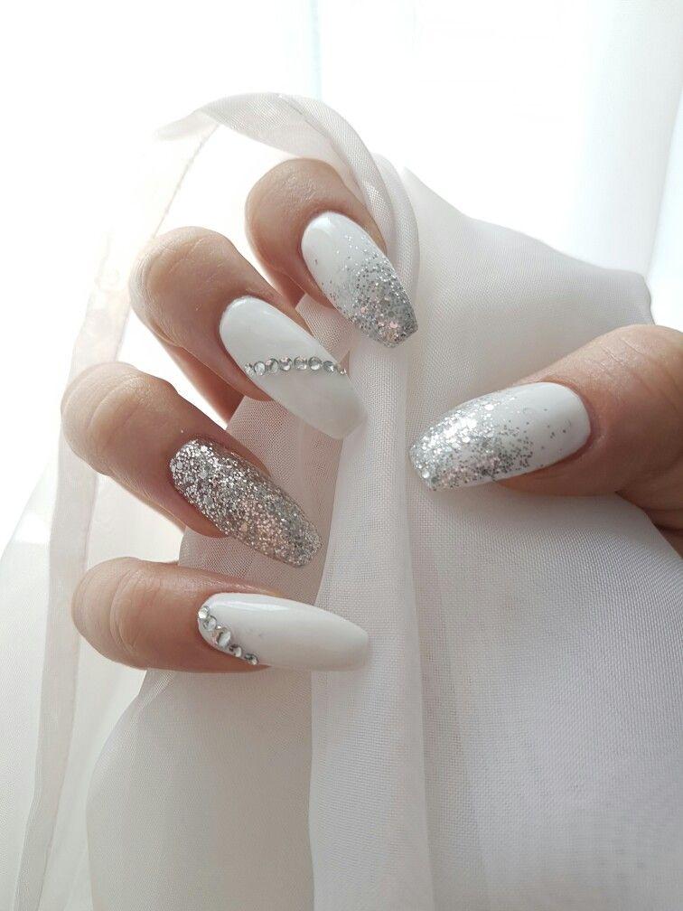 Wedding Nail Ideas Design for Coffin Nails