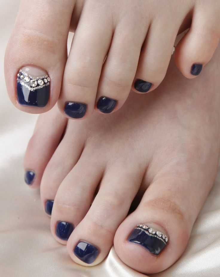 Wedding Nail Ideas French Pedicure Nail Art