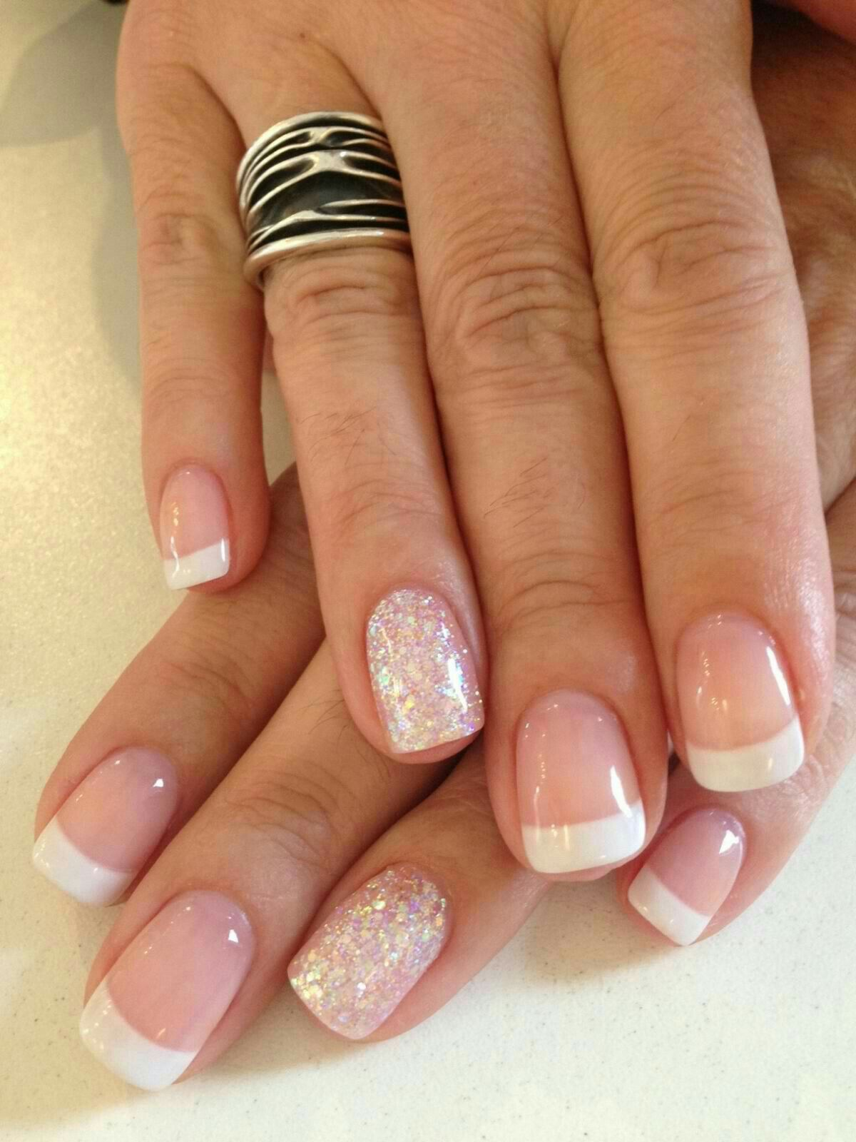 Wedding Nails Ideas With Sparkly